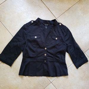 White House Black Market Black Jacket Top